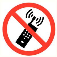 Pikt-o-Norm Veiligheidspictogram verboden GSM