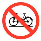 Veiligheidspictogram verboden fiets