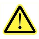Veiligheidspictogram gevaar voor gevaarlijke situaties