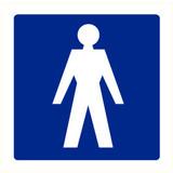 Pictogram aanwijzing WC heren