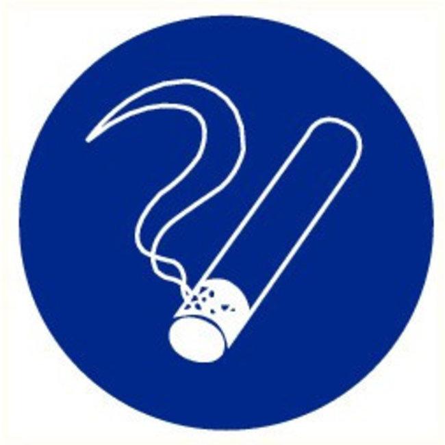 Pikt-o-Norm Veiligheidspictogram en aan te geven waar de rookzone zich bevind