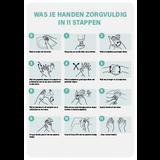 Instructies handhygiene A4  tegen Corona (Covid-19)