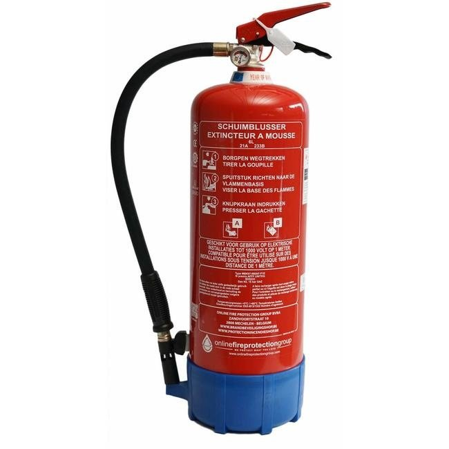Brandbeveiligingshop Brandblusserpakket schuim 6l full option