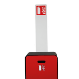 Totem met pictogram voor design brandblusserkast Harmony