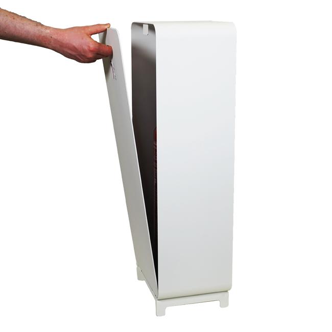 Designfeu Design brandblusserkast Harmony wit met deur synthetisch leer kastanjebruin