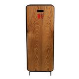 Design brandblusserkast Harmony zwart-bruin met deur teak hout