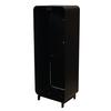 Designfeu Design brandblusserkast Harmony zwart-bruin met deur teak hout