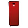 Designfeu Design brandblusserkast Harmony zwart-bruin met deur textiel rood