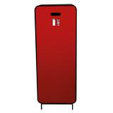 Design brandblusserkast Harmony zwart-bruin met deur textiel rood