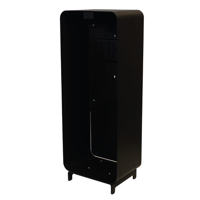 Designfeu Design brandblusserkast Harmony zwart-bruin met deur synthetisch leer kastanjebruin