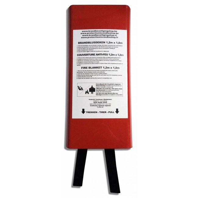 Brandbeveiligingshop Branddeken 1,2m x 1,8m EN 1869 goedgekeurd