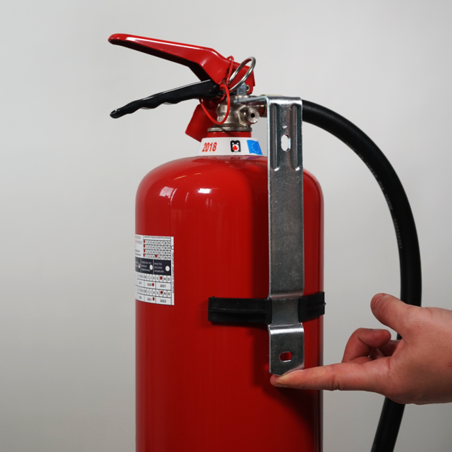 Brandbeveiligingshop Muurbeugel metaal brandblusser 6kg/l