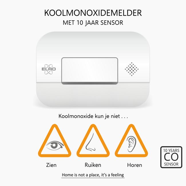 Elro  Elro FC2702 Koolmonoxidemelder met 10-jarige sensor