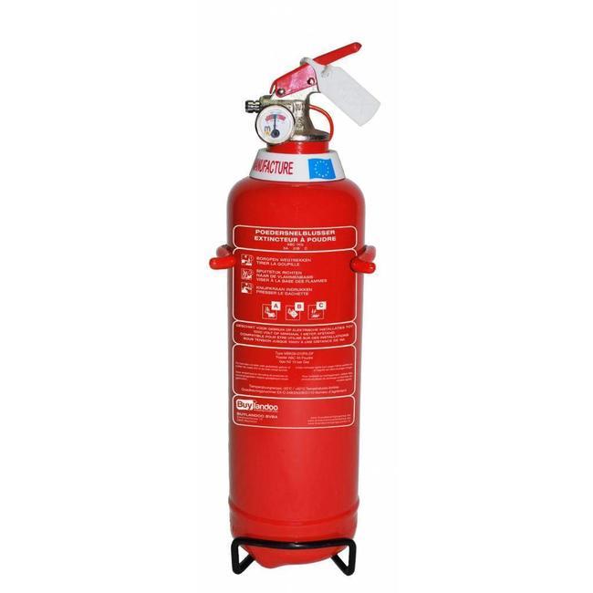Brandbeveiligingshop Poederbrandblusser 1kg (ABC) permanente druk