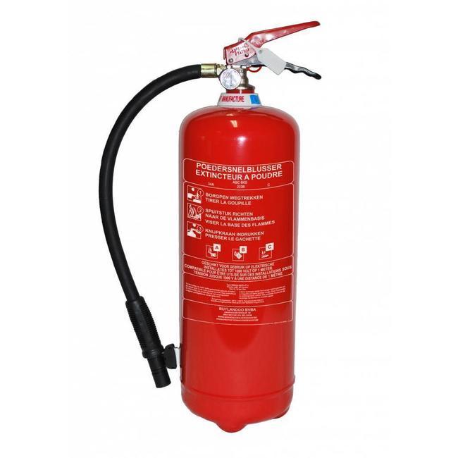 Brandbeveiligingshop Poederbrandblusser 6kg (ABC) permanente druk