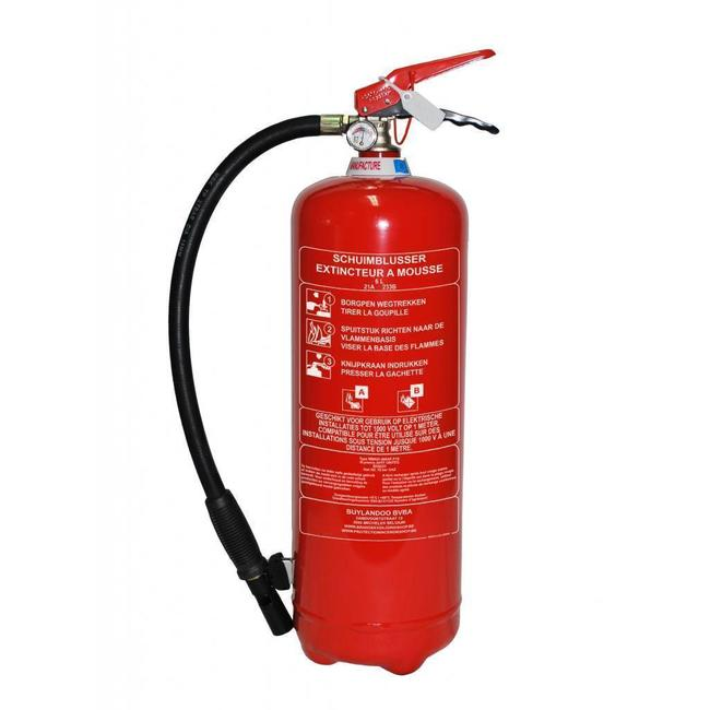 Brandbeveiligingshop Schuimbrandblusser 6l (AB) permanente druk