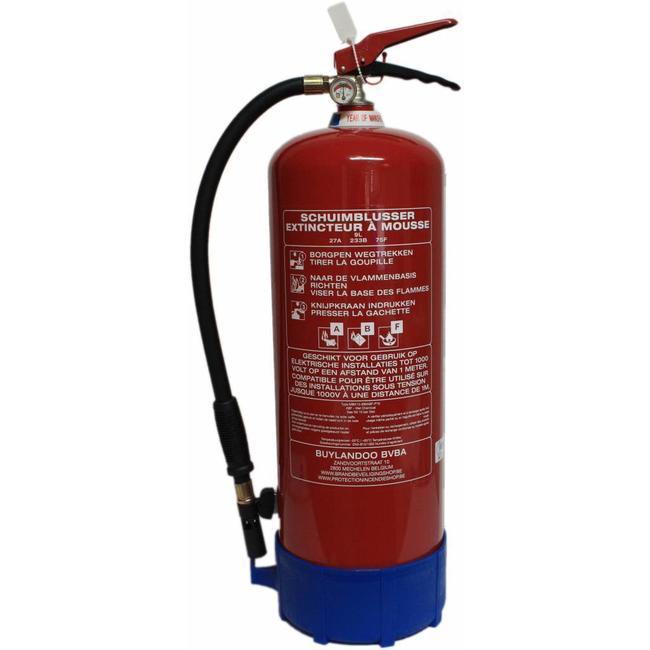 Brandbeveiligingshop Schuim-vetbrandblusser vorstvrij 9l (ABF) permanente druk
