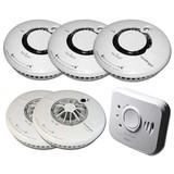 Fire Angel Wi-Safe draadloos koppelbaar beveiligingspakket XL - GRATIS magnetische sets!