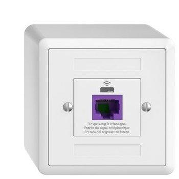Feller casella di riciclaggio AP Edizio causa bianco UTP 1 x RJ45 8P VoIP