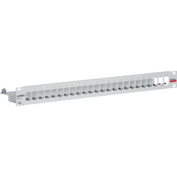 "Patchpanel 19"" 1HE f.24xMPS leer hgu RAL7035"