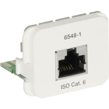 Adattatore AMP ACO + 1 × RJ45 Cat 6 250MHz, 568A 8p Kl. E, RAL1013
