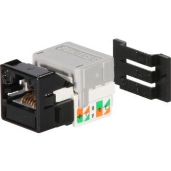Modulo di collegamento Cat.6 1xRJ45 nero