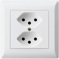 Hager Presa plug-in KLI 2 × T13 bianca