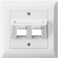 Hager Kit de montage dissimulé KLI 2 × Keystone blanc