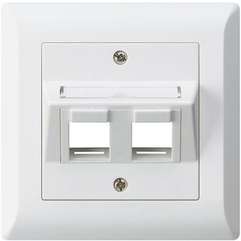 Hager Set de montage dissimulé Hager KLI 2 × Keystone blanc