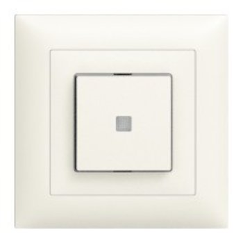Feller UP-éclairé interrupteur à bouton Schéma 3/1 L avec objectif LS, jaune LED Edue