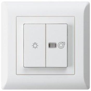Hager UP Leuchtdrucksch. KLI ws 1/1 L m.Symb.Licht + ventilateur non.