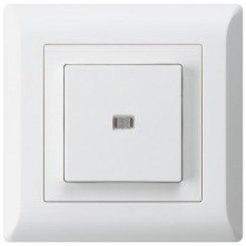 Hager UP-éclairé-poussoir KLI 3 / 1L blanc