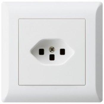 Hager UP-socket KLI T23 ws, m.Steckklemmen