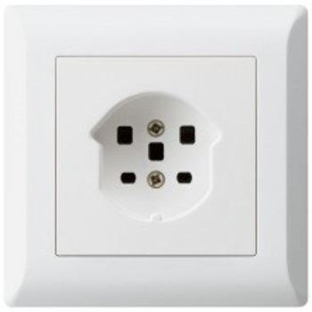 Hager UP-socket KLI T25 ws, bornes à vis
