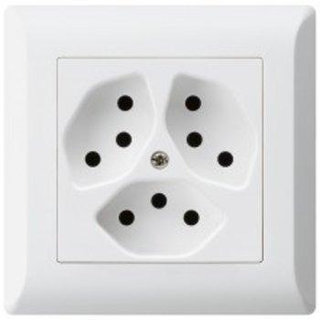 Hager UP-socket KLI 3xT13 ws