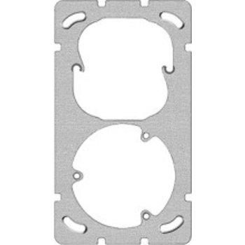 Feller Plaque de montage UP-FH 2x1 52 + 3 × T13