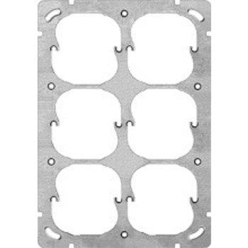 Feller UP-plaque de montage FH 3x2 6x52mm