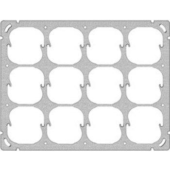 Feller UP-plaque de montage FH 3x4 12x52mm