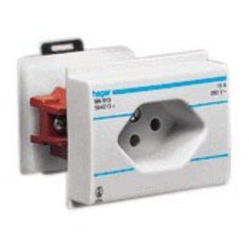 Hager Prise électrique EB gris HA T13