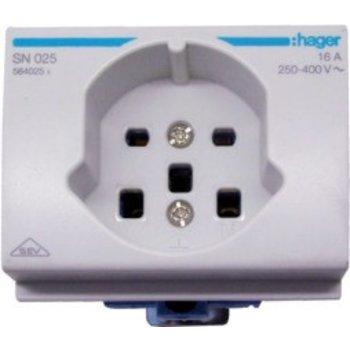 Hager Prise électrique EB gris HA T25