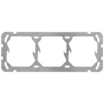 Hager UP Befestigungsplatte Hager 1x3 horizontal 197x77mm