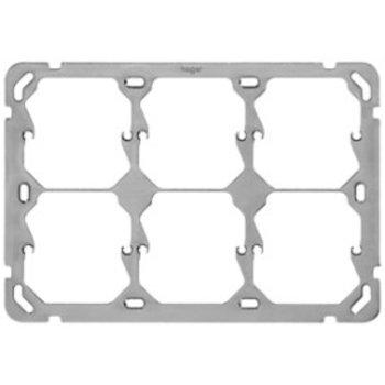 Hager UP plaque de montage Hager 2x3 horizotal 197x137mm