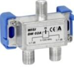Wisi F 2x distributeur DM02B 2x3,7dB 5-1000MHz WISI