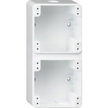 Hager AP logement ROB 2 × 1, blanc 86 x 180 x 48mm