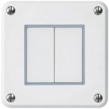 Hager UP interrupteur de pression ROB schéma 3 + 3, blanc