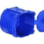 Agro UP boîte NIS Gr.I Agro avec couvercle rabattable sans halogène bleu