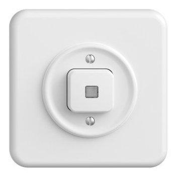 Feller UP Leuchtdruckschalter StandardDue Schema 3, weiss mit Linse, LS, LED gelb