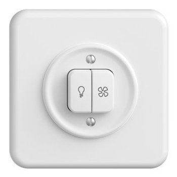 Feller UP switch per Fan StandardDue luce +, bianco, KS, LED giallo