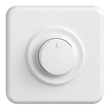 Feller UP variateur rotatif LED Universal StandardDue QMi, 4-200W, blanc, blanc LED