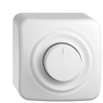 Feller AP LED universale rotativi dimmer StandardDue, 4-200W bianco, LED bianco